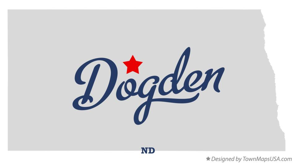 Map of Dogden North Dakota ND
