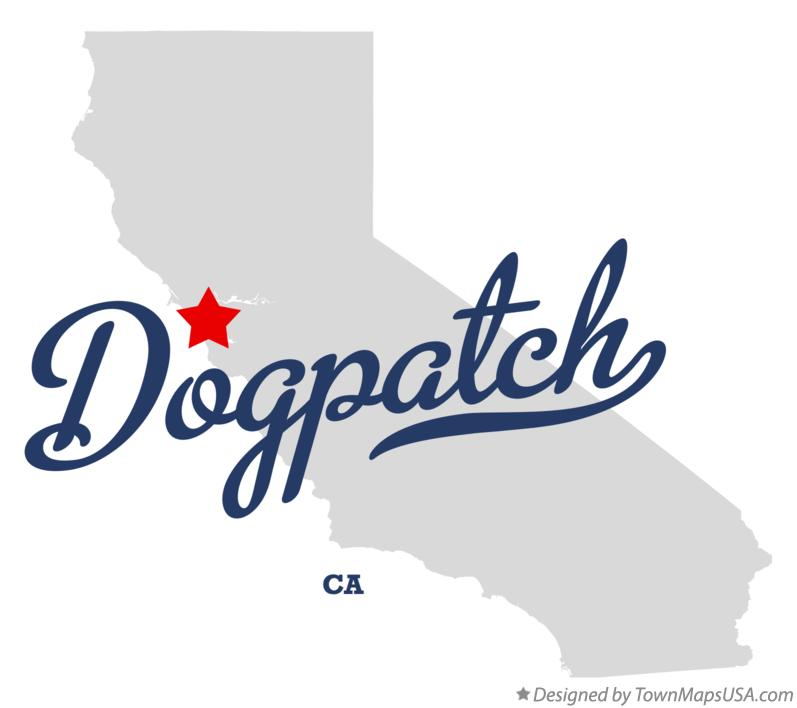 Map of Dogpatch California CA
