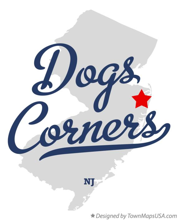 Map of Dogs Corners New Jersey NJ