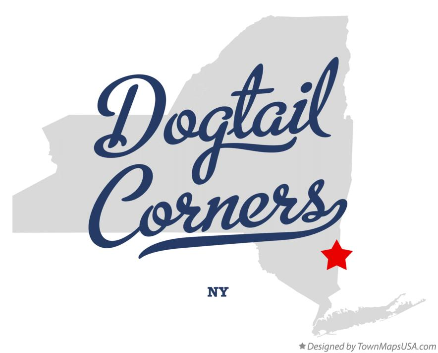 Map of Dogtail Corners New York NY