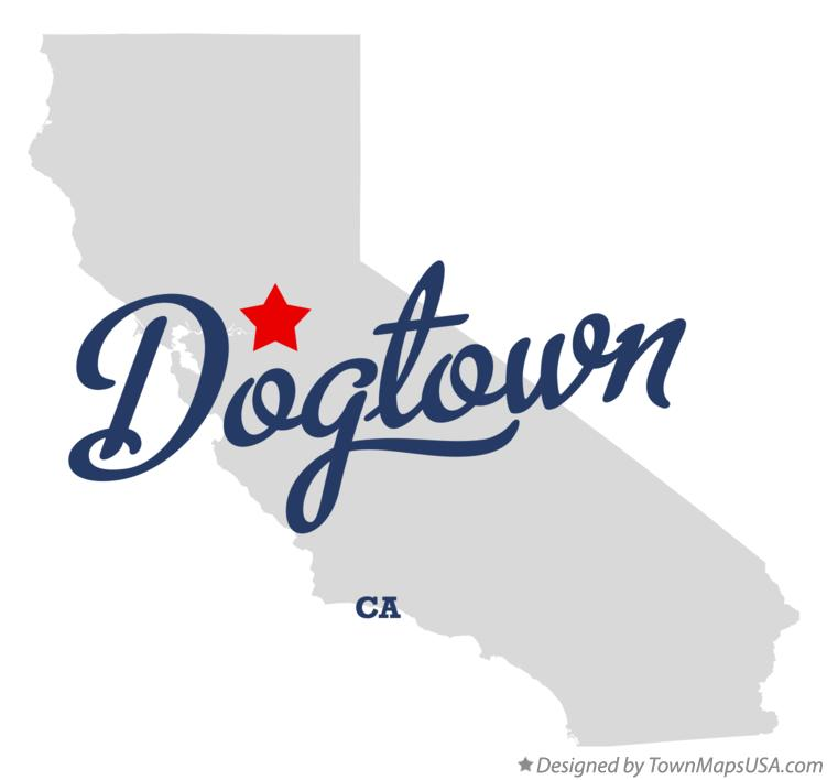 Map of Dogtown California CA