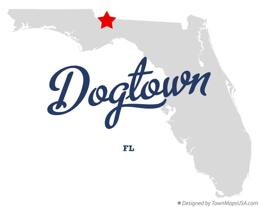 Map of Dogtown Florida FL