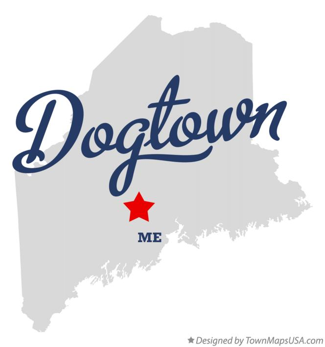 Map of Dogtown Maine ME