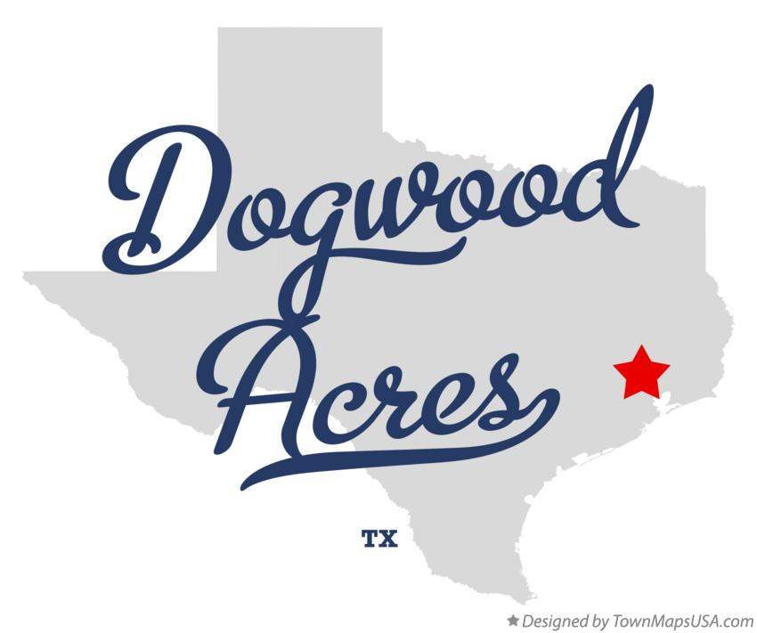 Map of Dogwood Acres Texas TX