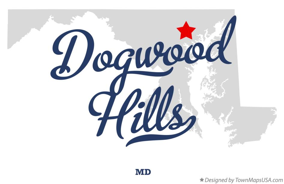 Map of Dogwood Hills Maryland MD