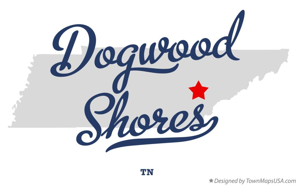Map of Dogwood Shores Tennessee TN