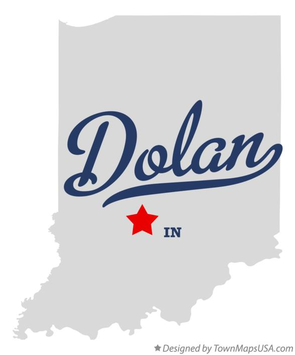 Map of Dolan Indiana IN