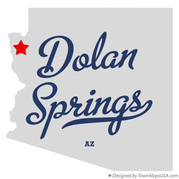 Map of Dolan Springs Arizona AZ