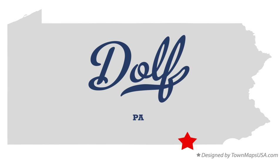 Map of Dolf Pennsylvania PA