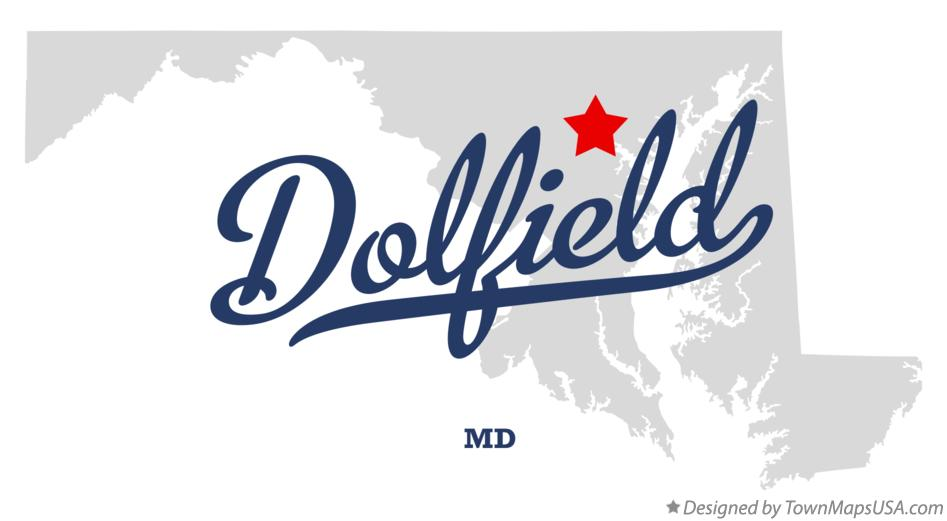 Map of Dolfield Maryland MD