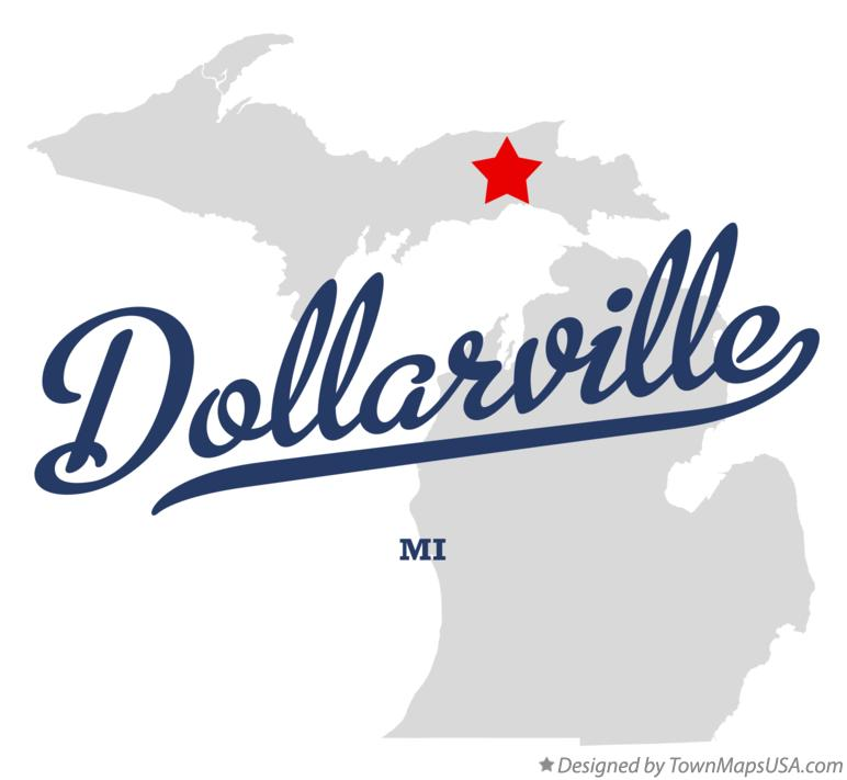 Map of Dollarville Michigan MI