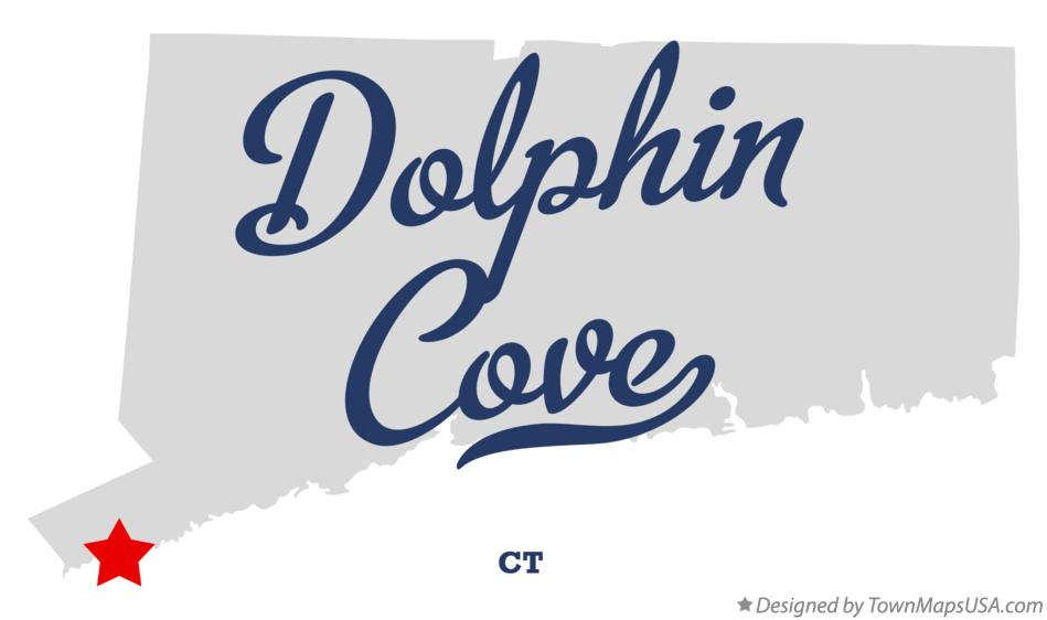 Map of Dolphin Cove Connecticut CT