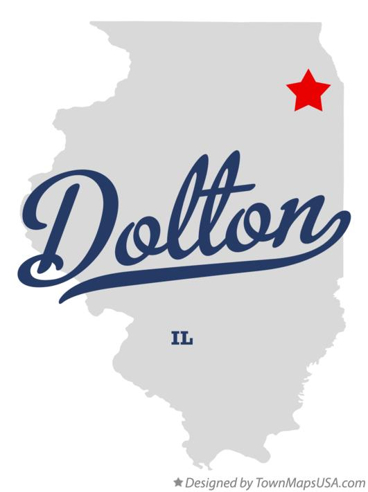 Map of Dolton Illinois IL