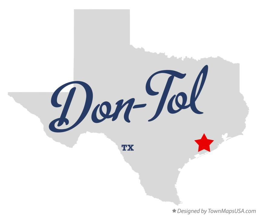 Map of Don-Tol Texas TX