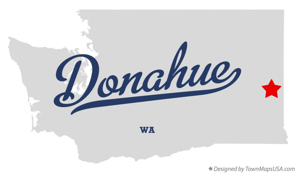 Map of Donahue Washington WA