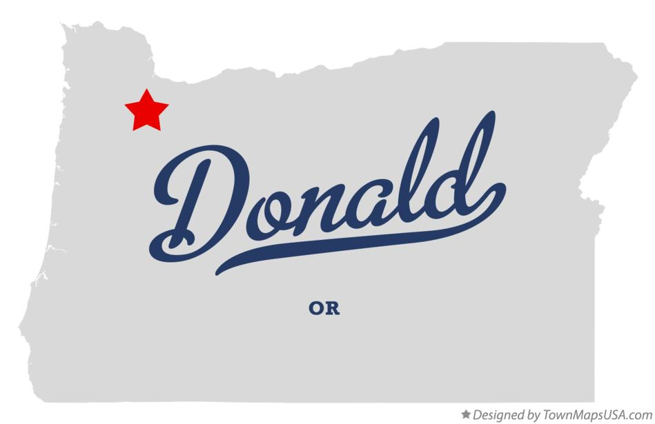Map of Donald Oregon OR