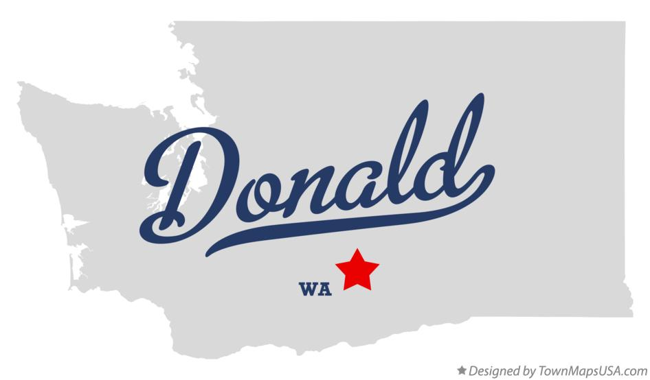 Map of Donald Washington WA