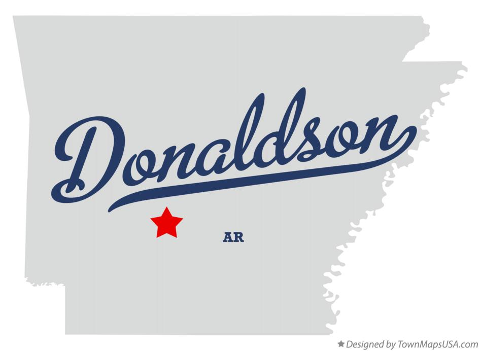 Map of Donaldson Arkansas AR