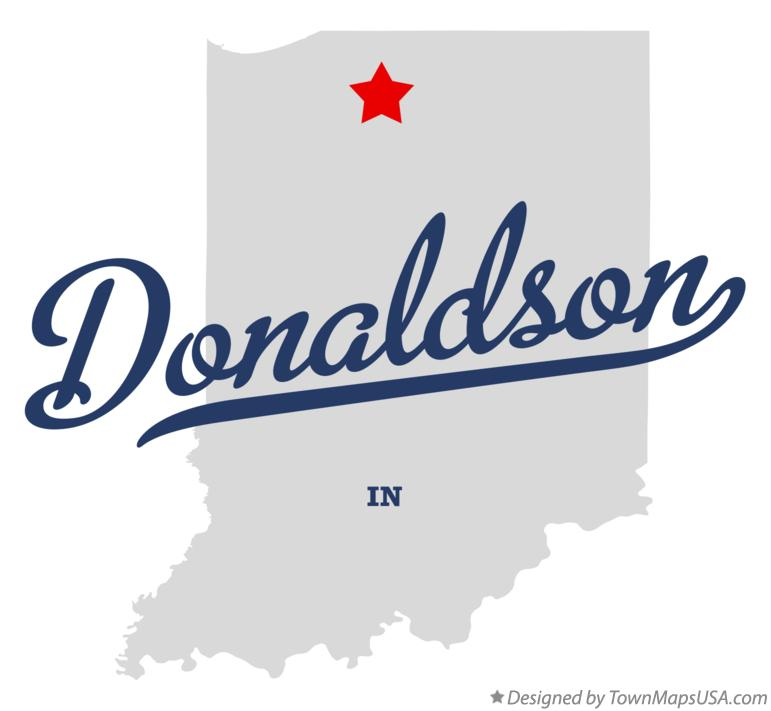 Map of Donaldson Indiana IN