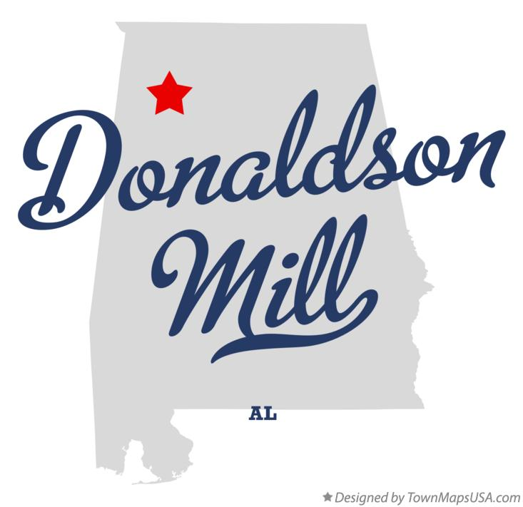 Map of Donaldson Mill Alabama AL