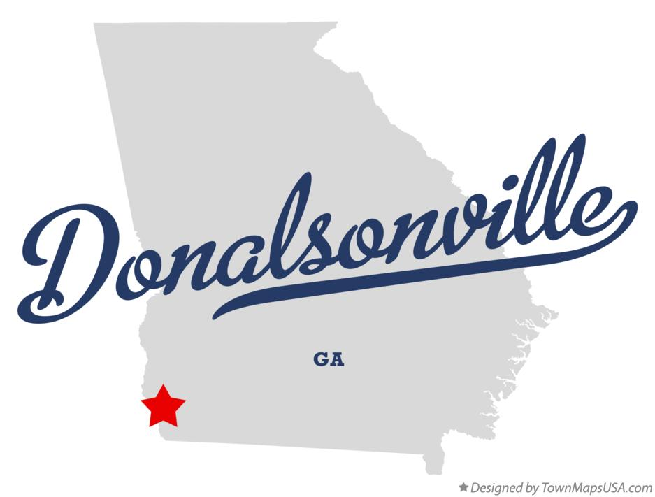 Map of Donalsonville Georgia GA