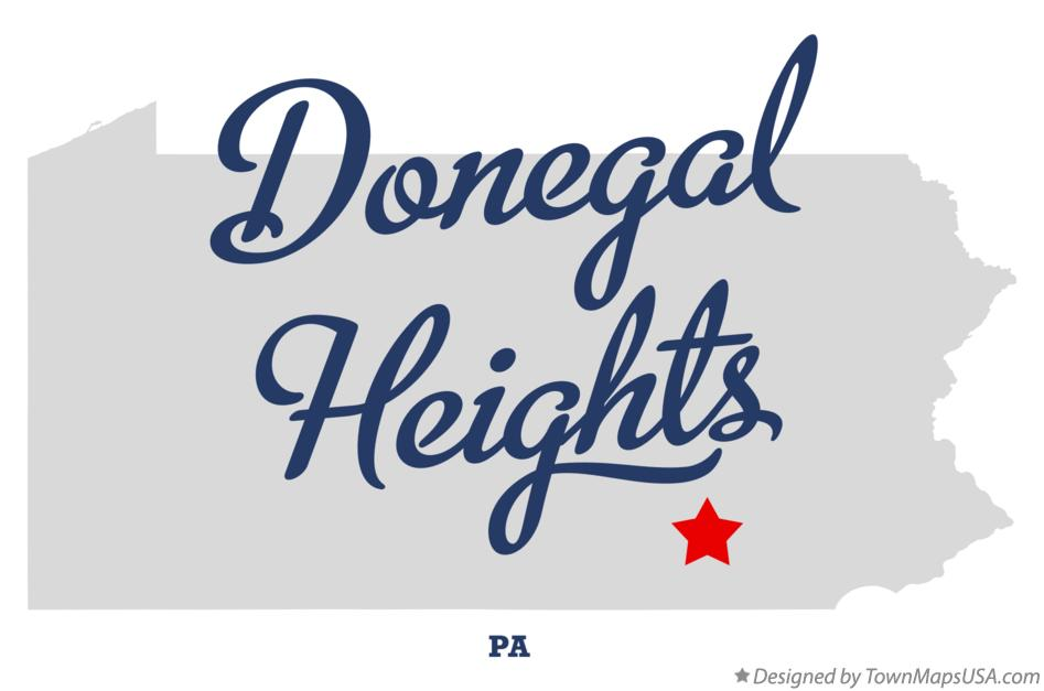 Map of Donegal Heights Pennsylvania PA