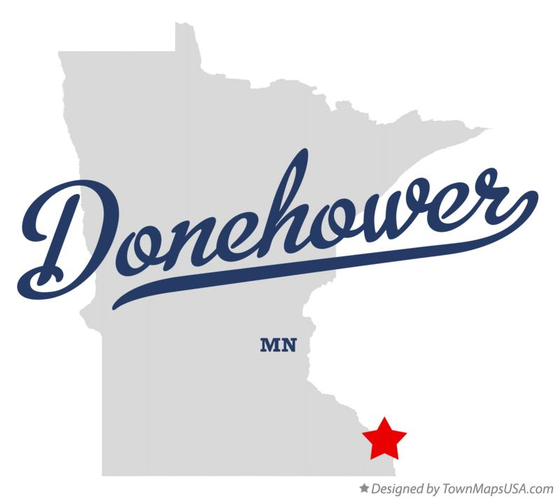 Map of Donehower Minnesota MN