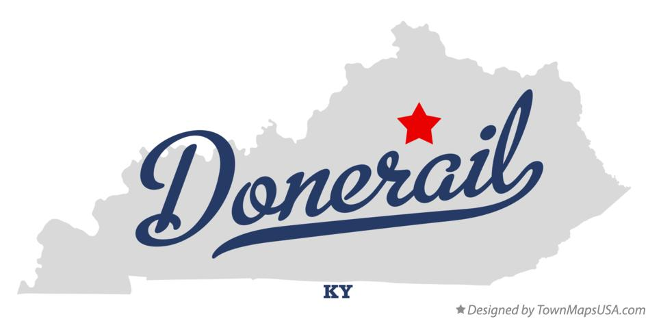 Map of Donerail Kentucky KY