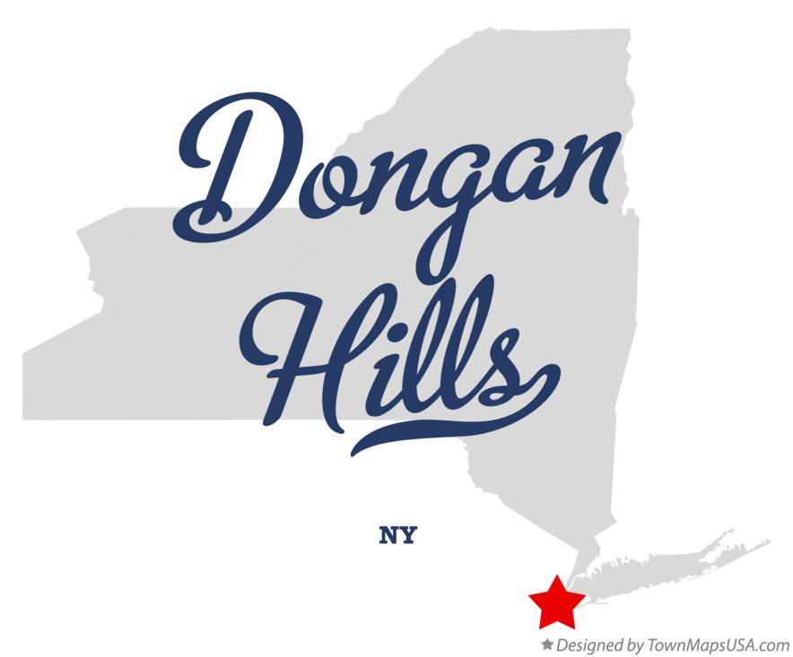 Map of Dongan Hills New York NY