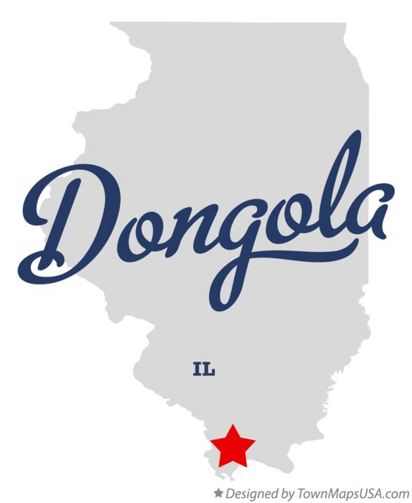 Map of Dongola Illinois IL