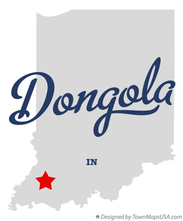 Map of Dongola Indiana IN