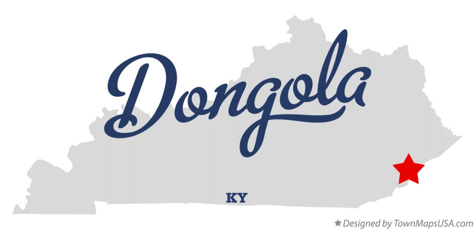 Map of Dongola Kentucky KY