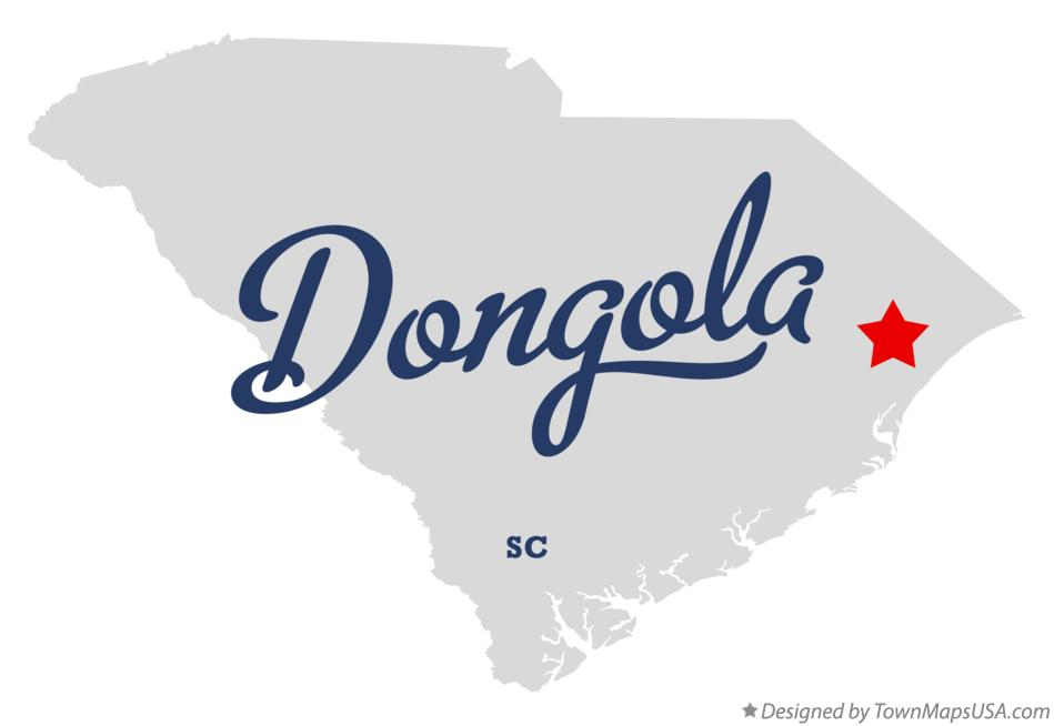 Map of Dongola South Carolina SC