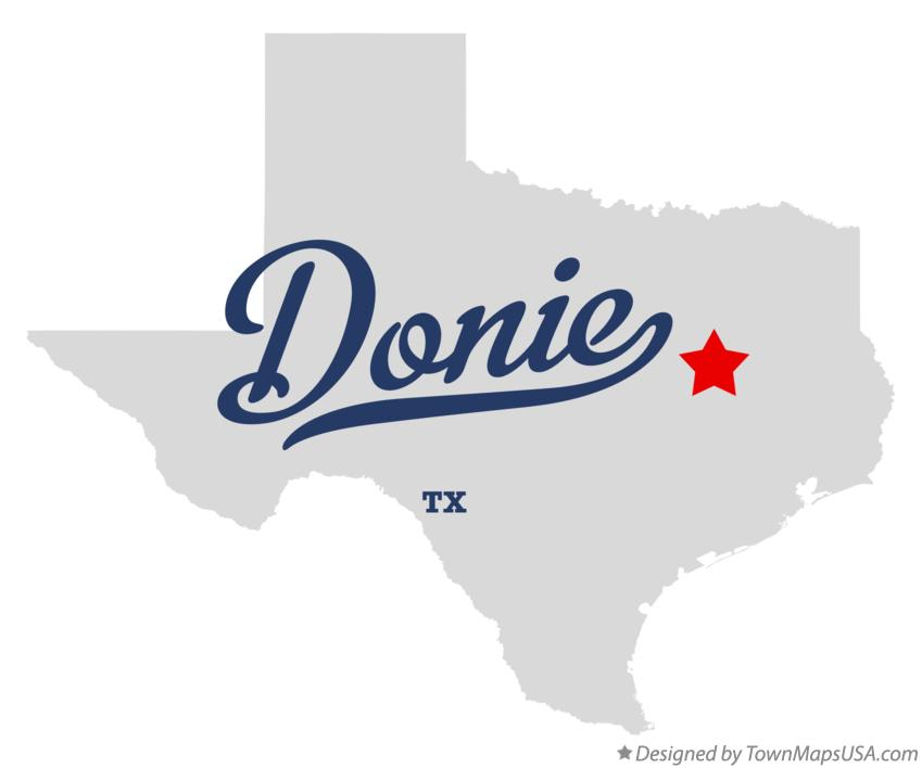 Map of Donie Texas TX