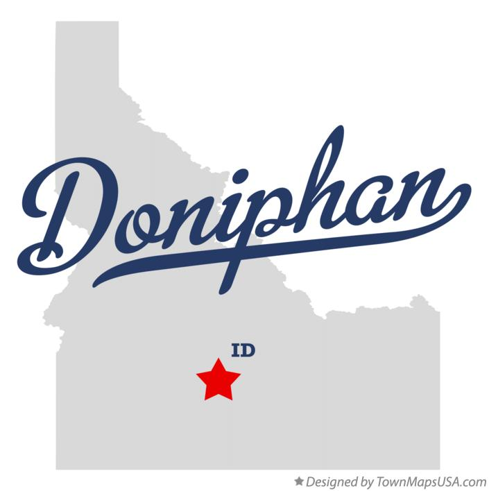 Map of Doniphan Idaho ID