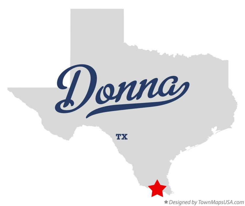 Map of Donna Texas TX