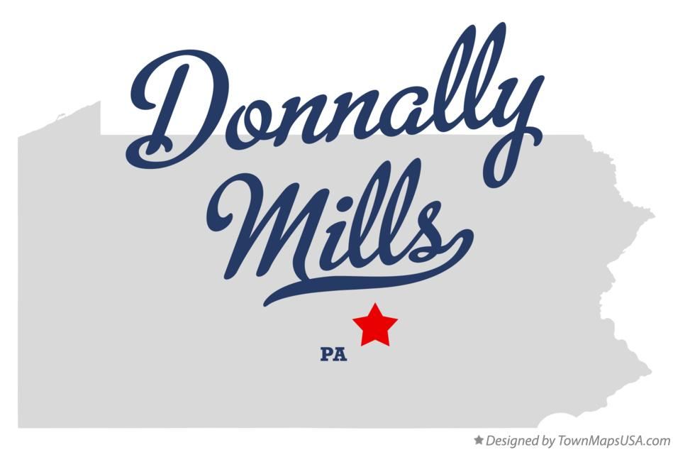Map of Donnally Mills Pennsylvania PA