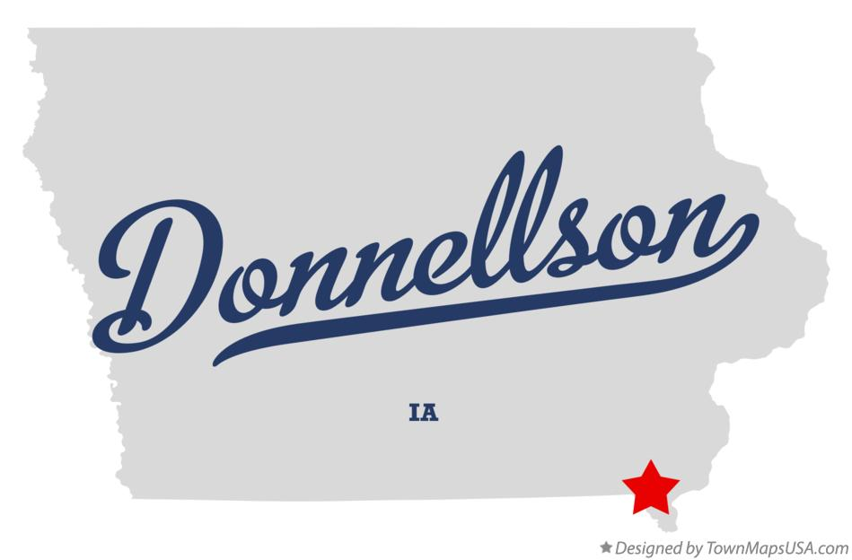 Map of Donnellson Iowa IA