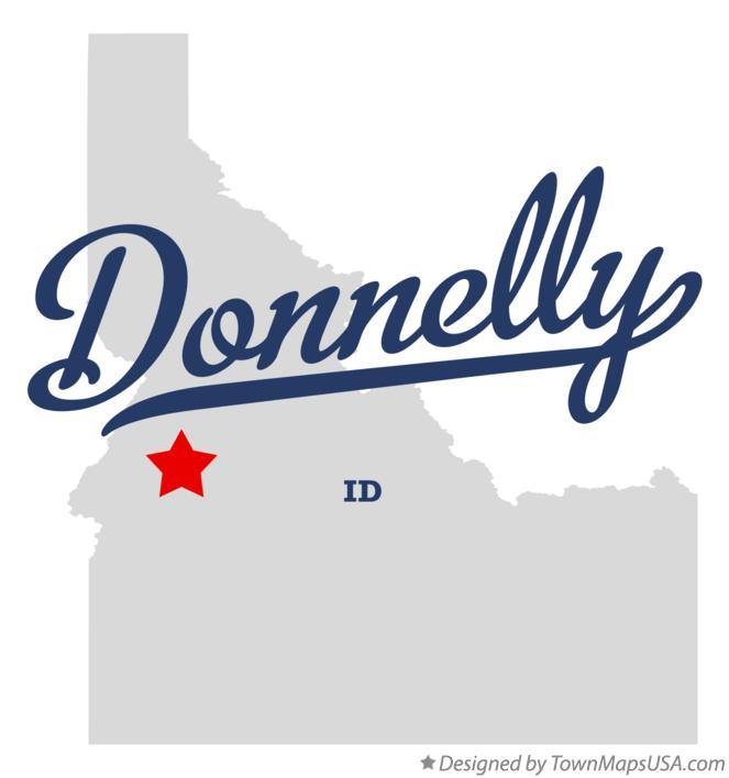 Map of Donnelly Idaho ID