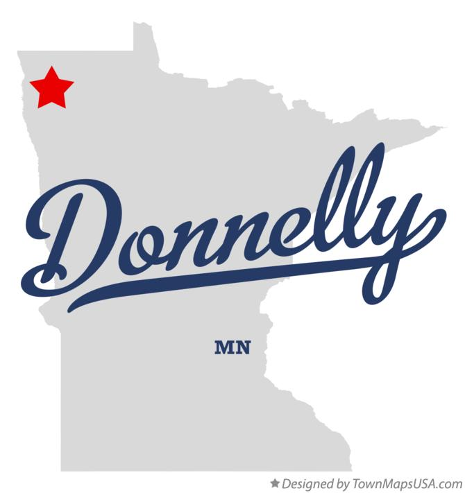 Map of Donnelly Minnesota MN