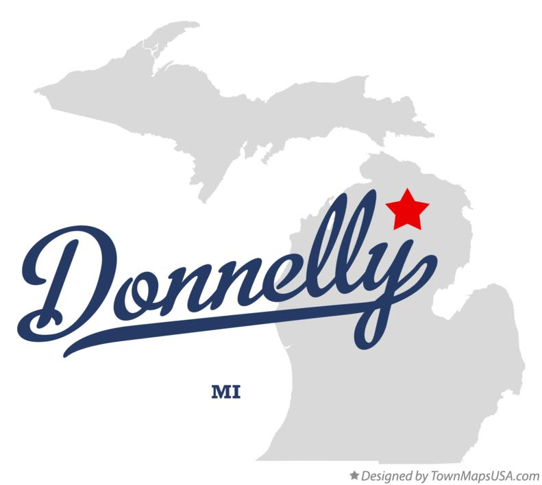 Map of Donnelly Michigan MI
