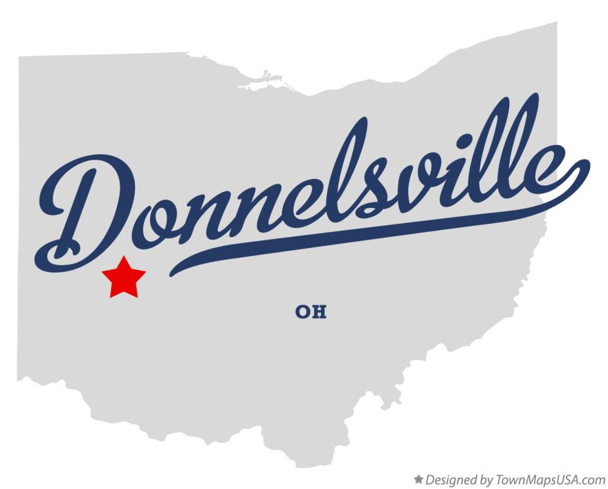 Map of Donnelsville Ohio OH
