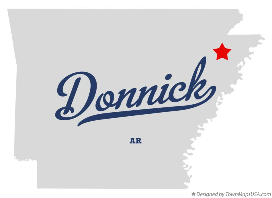 Map of Donnick Arkansas AR