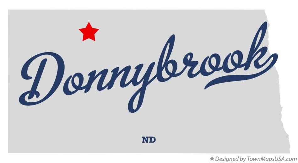 Map of Donnybrook North Dakota ND