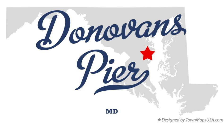 Map of Donovans Pier Maryland MD