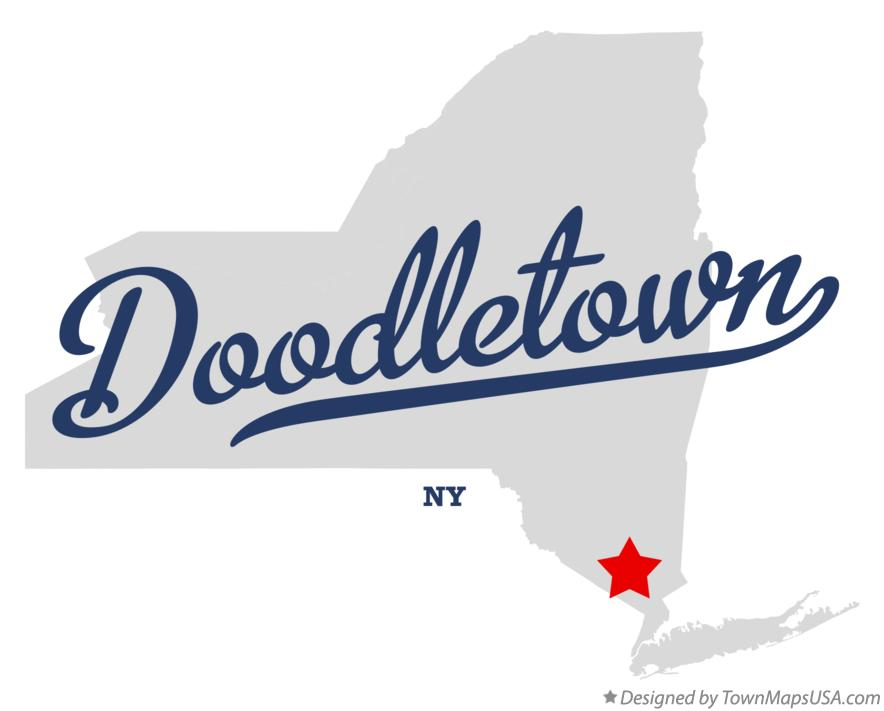 Map of Doodletown New York NY