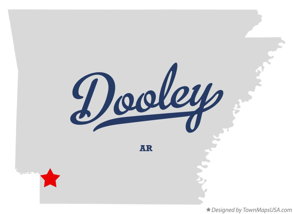 Map of Dooley Arkansas AR