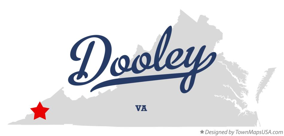 Map of Dooley Virginia VA