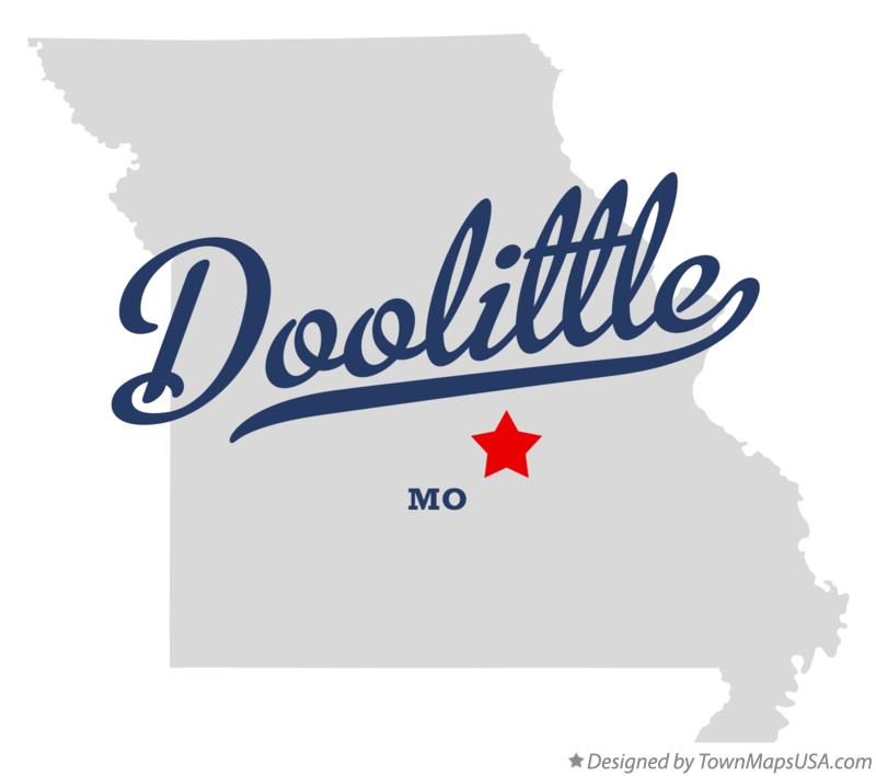 Map of Doolittle Missouri MO