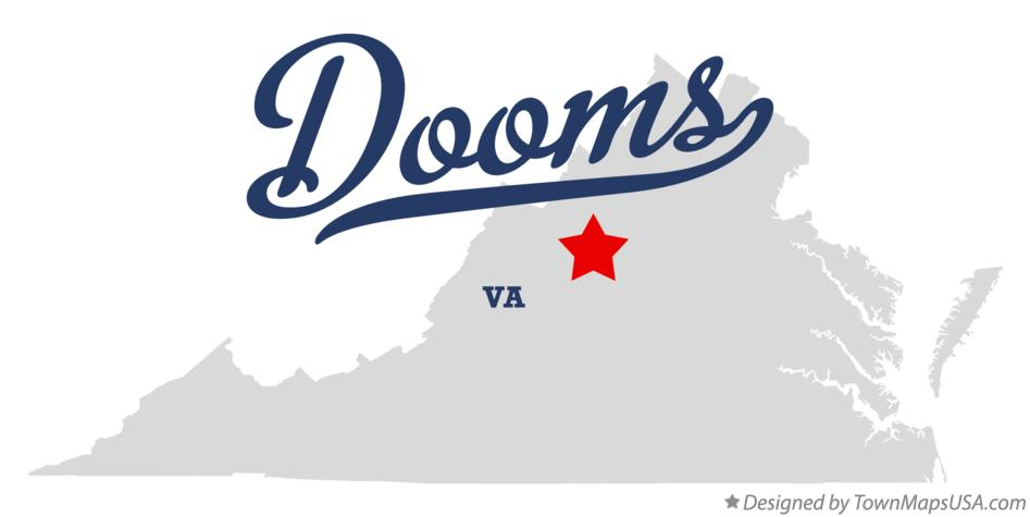 Map of Dooms Virginia VA